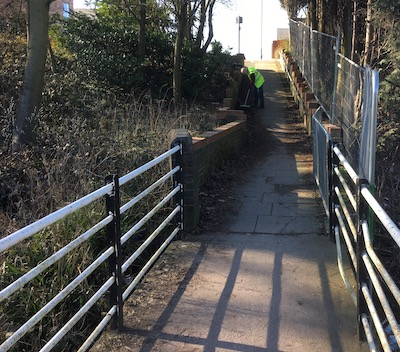 Footpath before tidying