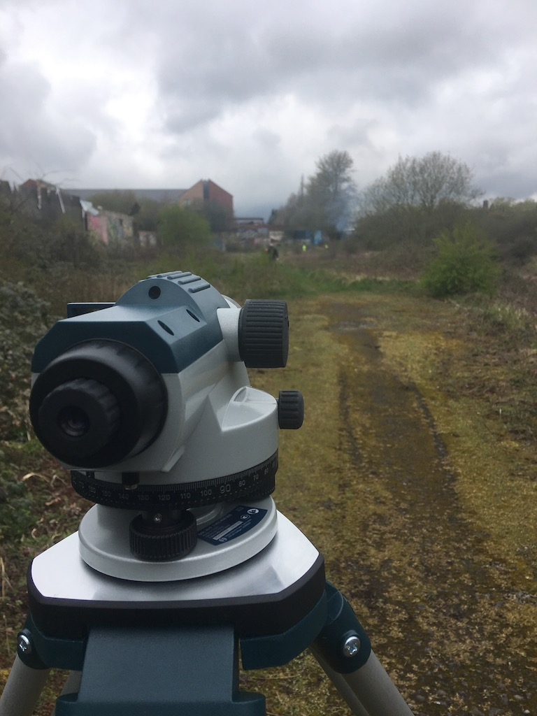 Optical level in use, March 2019