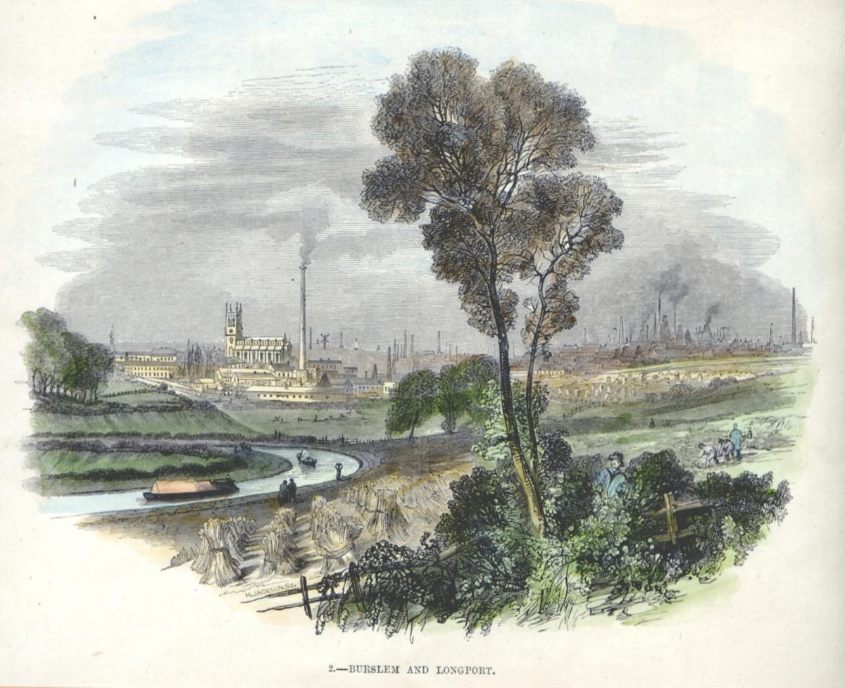 Early print of the Trent & Mersey Canal