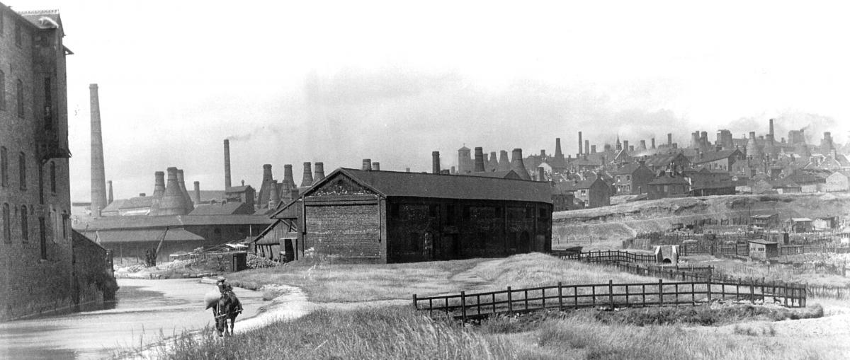 Historic view towards Burslem